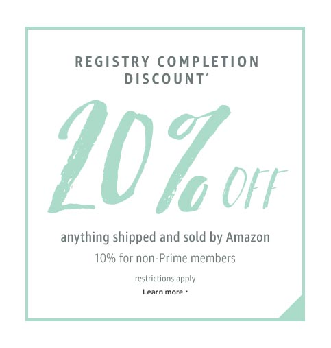 20% Discount on Amazon Wedding Registry