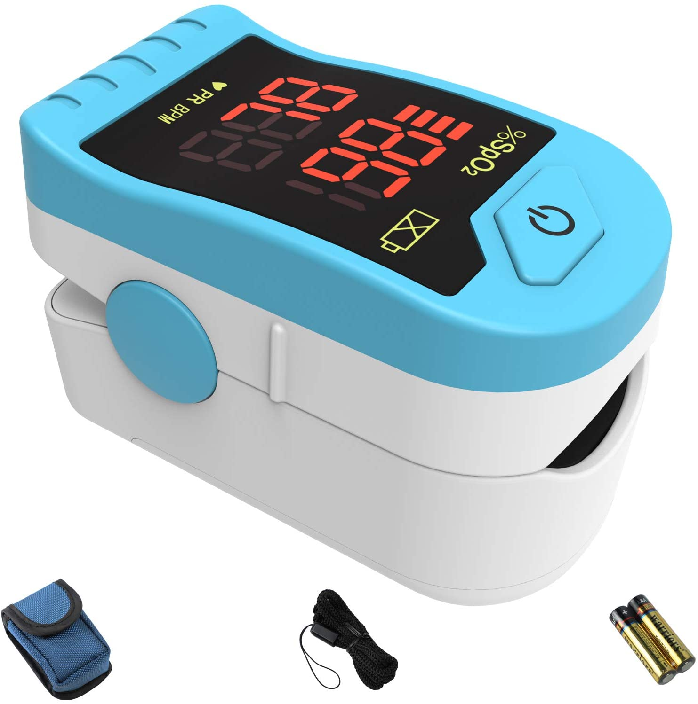 Save 21% on CHOICEMMED Light Blue Finger Pulse Oximeter