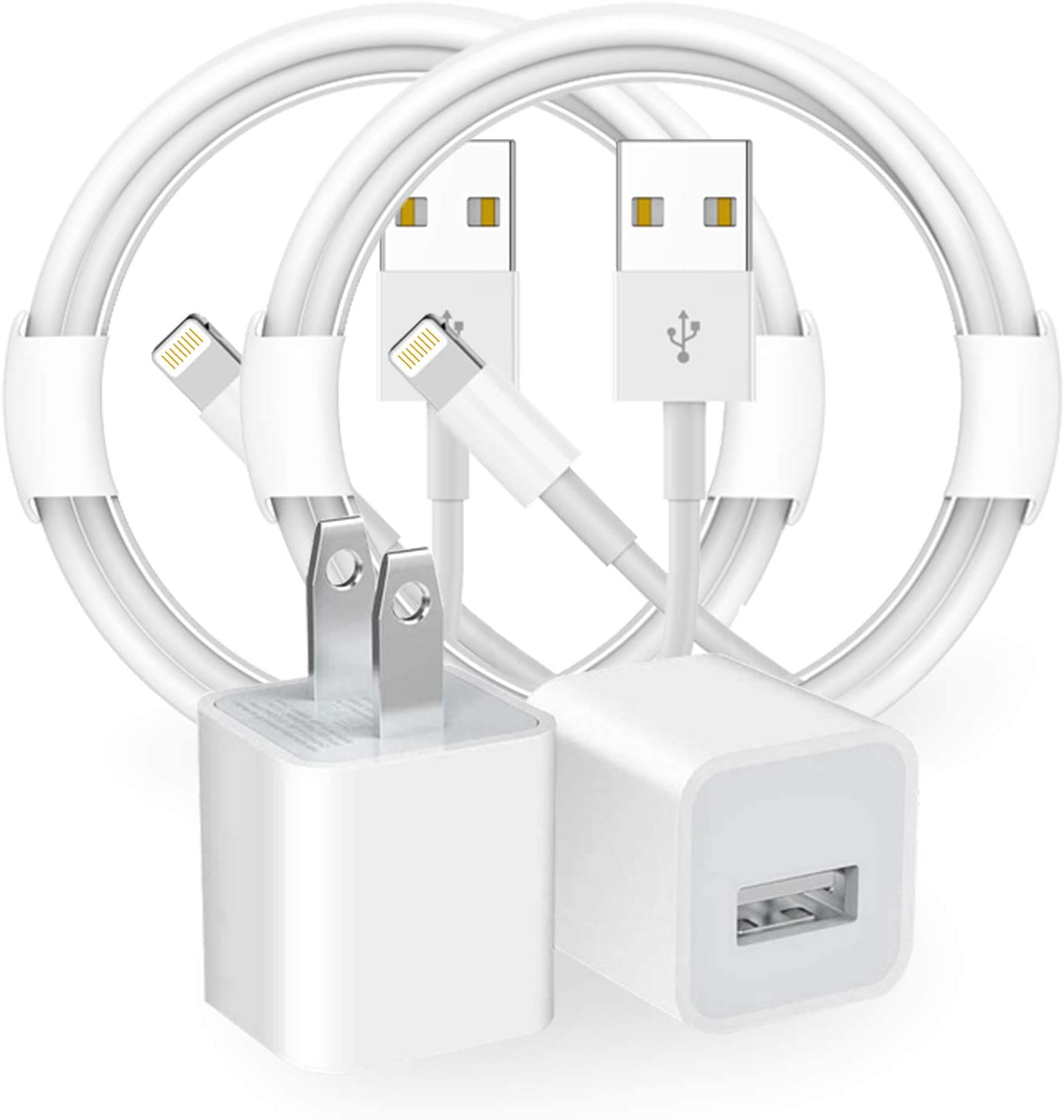 iPhone Charger, 2 Pack Lightning to USB Fast Charging