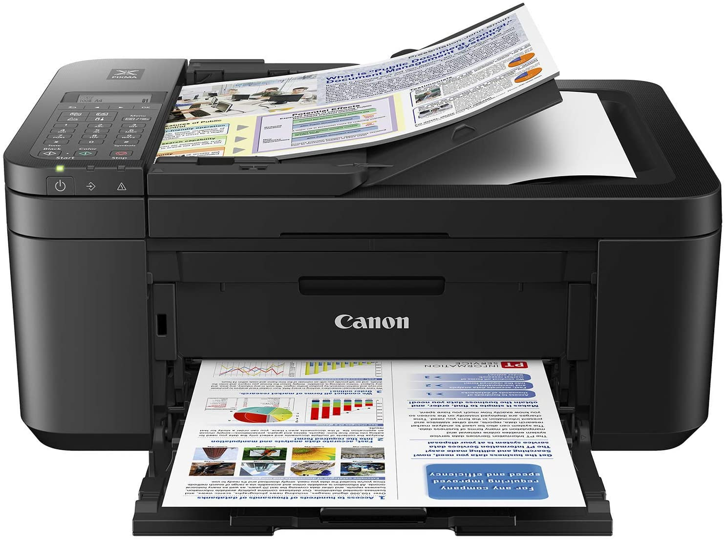 Canon PIXMA TR4527 Wireless Color Photo Printer with Scanner