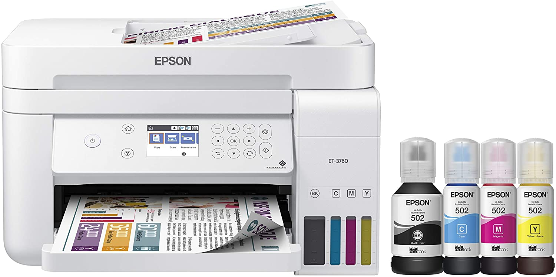 Epson EcoTank ET-3760 Wireless Color Cartridge-Free Supertank Printer
