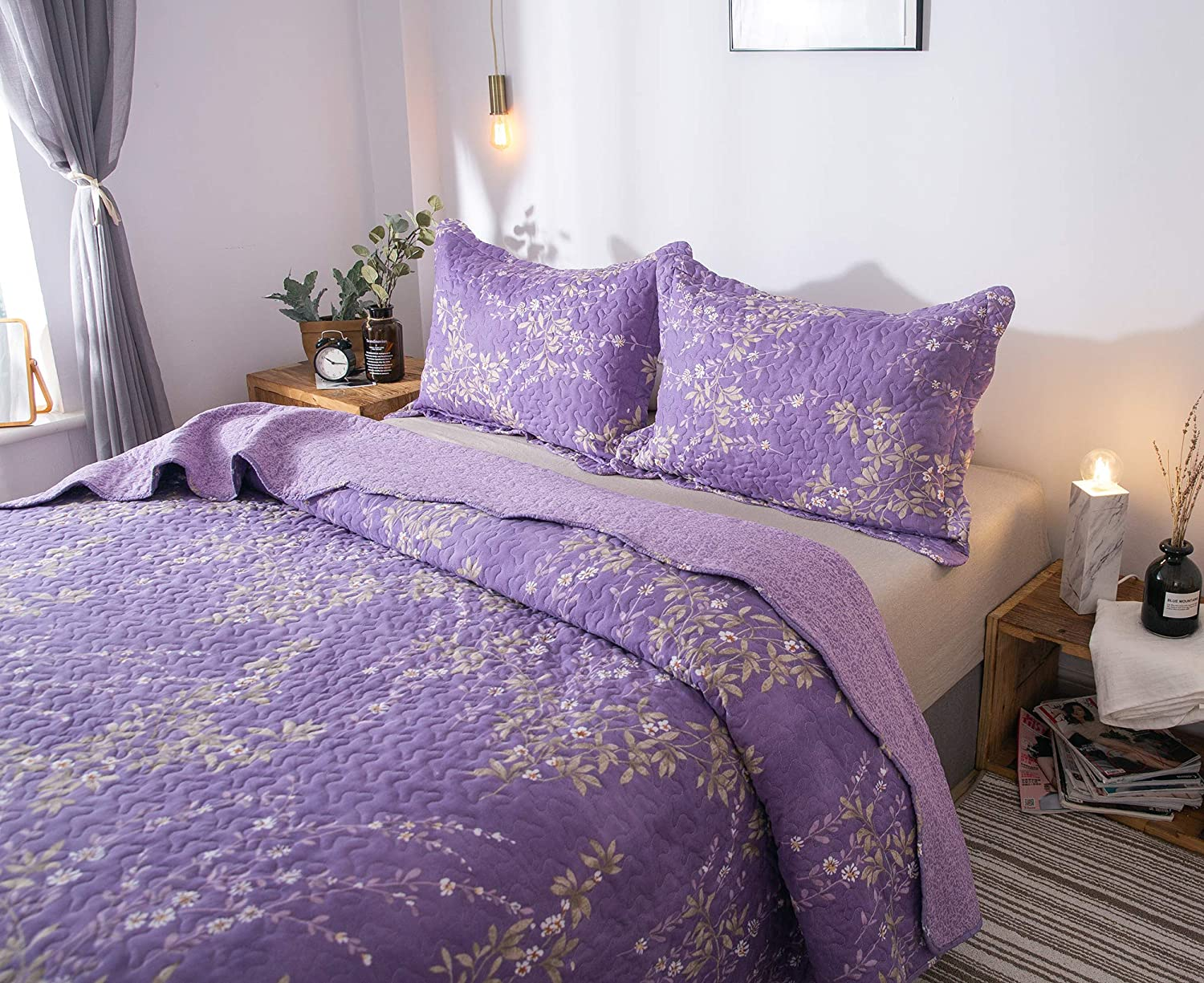 Save $20 on KASENTEX Country-Chic Printed Pre-Washed Quilt Set