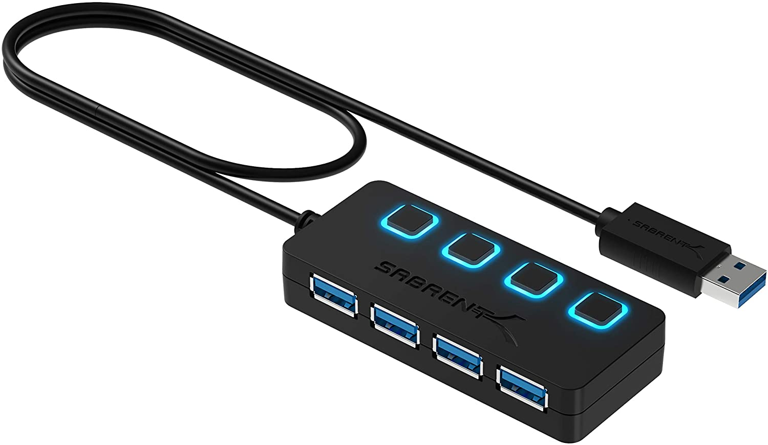 Save 40% + extra 10% on Sabrent 4-Port Hub with LED Power Switches