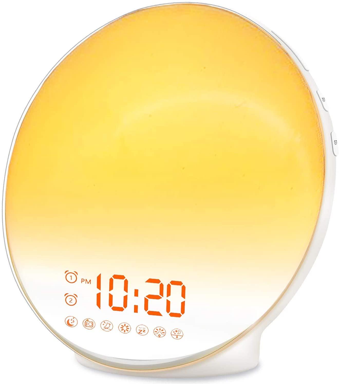 Save 22% on Wake Up Light Sunrise Alarm Clock for Kids, Heavy Sleepers